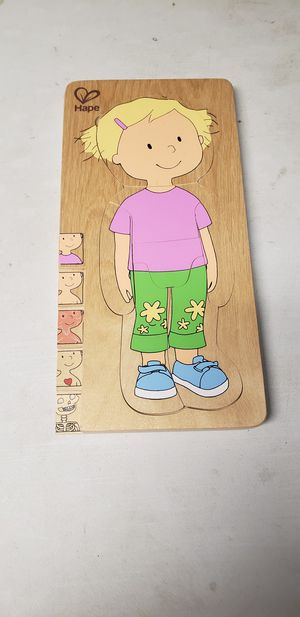 Hape wooden puzzle girl for Sale in Columbus, OH