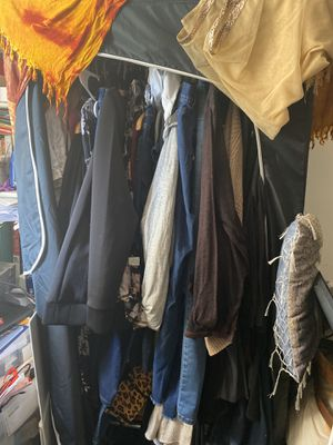 Clothes rack armoire zip up for Sale in Los Altos, CA