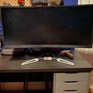 """Acer Widescreen Curve XZ35"""" for Sale in Silverado, CA"""