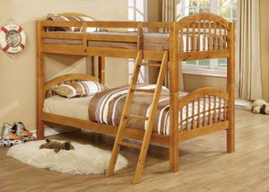 Ryder Oak Twin over Twin Bunk Bed | 9082 for Sale in Austin, TX