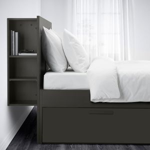 IKEA Brimnes Bed Frame w/storage & headboard, Queen, Black for Sale in San Diego, CA