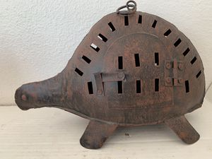 Turtle Metal Yard Art Candle Holder Lightweight Natural Rust Color for Sale in Portland, OR