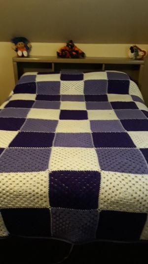 Purple and white Afghan for Sale in Butte, MT