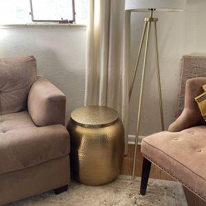 Hammered Gold Side Table W/ Storage for Sale in Denver, CO