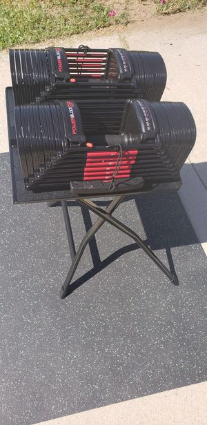 Brand New In Box Powerblock 5-90 lb Adjustable Dumbbells (Stage 1,2,&3 Included) for Sale in Rancho Cucamonga, CA