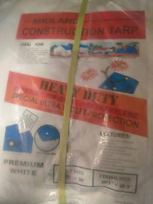 White heavy duty Midland Construction tarp for Sale in La Conner, WA