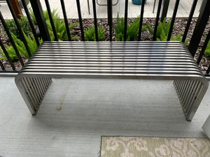 Stainless steel HEAVY DUTY bench / guest luggage rack for Sale in Tampa, FL