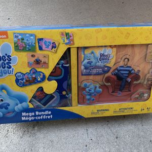 Blues Clues Mega Bundle Pack - 3 Puzzles, Dominos And Jumbo Playing Cards - Fun Games For The Kids - Brand New for Sale in Fort Lauderdale, FL