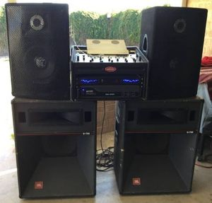 Speaker amp mixer cables mic lights for Sale in Phoenix, AZ