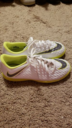 White and Neon Nikes Nike Shoes- YOUTH size 5 for Sale in Kent, WA