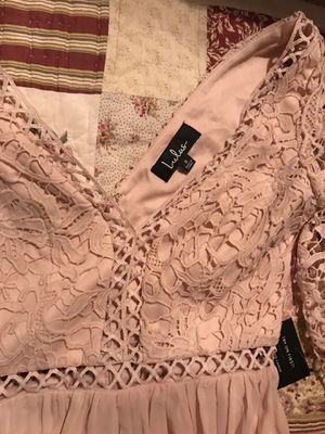 Lulus blush lace and chiffon dress for Sale in Wildomar, CA