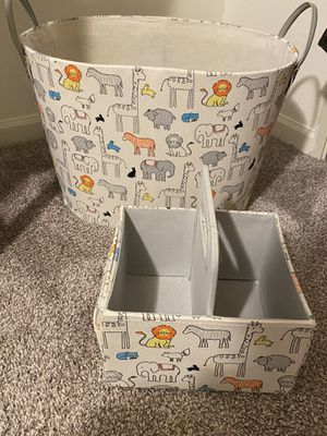 laundry basket with baby Diaper Caddy Organizer for Sale in Cuyahoga Falls, OH
