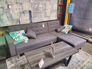 Fabric Sectional Sofa Bed, Gray for Sale in Huntington Beach, CA