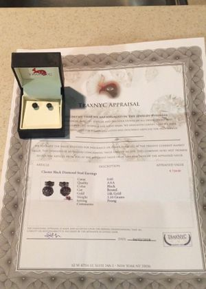 Black diamond earrings for Sale in Gambrills, MD