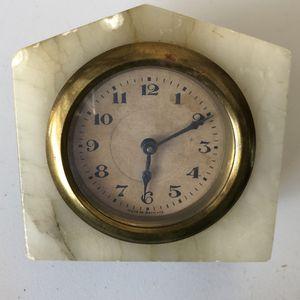 Alabaster antique clock for Sale in Delray Beach, FL