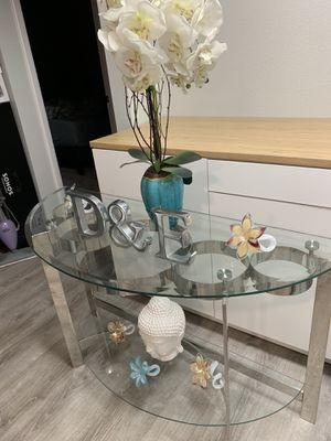 Table console, hall table, glass table for Sale in Phoenix, AZ