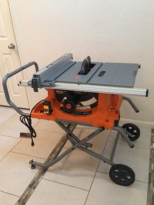 "NEW RIDGID 15 AMP 10"" HEAVY DUTY PORTABLE TABLE SAW WITH FOLDING STAND for Sale in Tomball, TX"