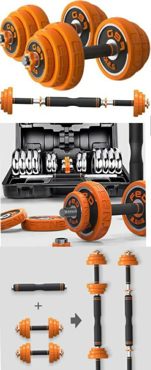 2 in 1 BARBELL AND DUMBBELLS WEIGHT SET 🏋️‍♂️🏋️‍♀️ BRAND NEW - WONT LAST!!! for Sale in Glendale, CA