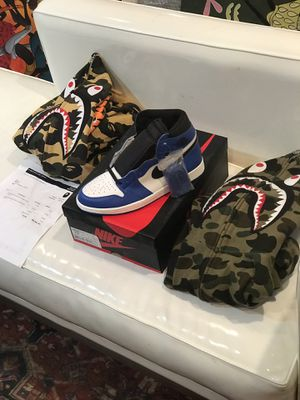 Bape Shark zip FW 18 woodland and desert camo size L and Xl receipt for Sale in Washington, DC