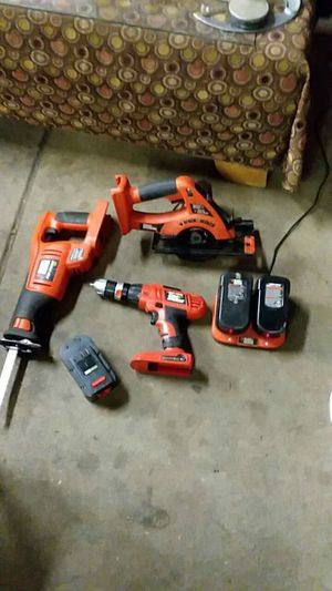 18 volt drill sawzall circular Saw 3 battery and charger for Sale in Lincoln, NE