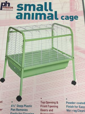 Small Animal Cage with Stand Green for Sale in Greenville, MS
