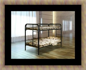 Twin bunk bed frame with mattress for Sale in Adelphi, MD