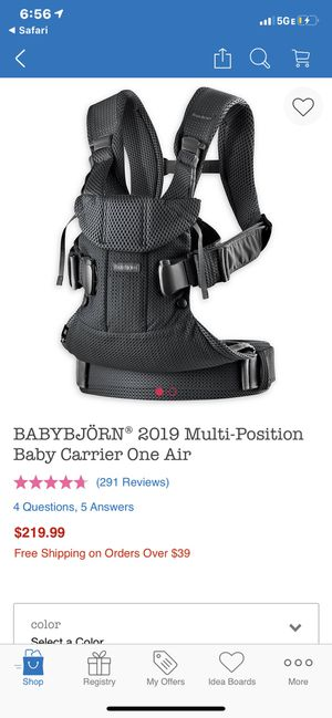 Babybjörn multi-position baby carrier for Sale in Atherton, CA