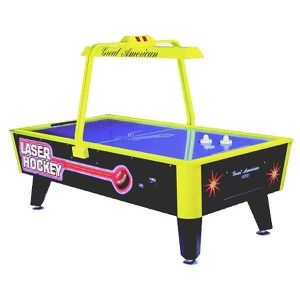 Used Great American Commercial LASER HOCKEY Neon Glow Laser Air Hockey Table $2,000 It's dimensions are 54.5″ Wide, 99″ Long, and 65.5″ High for Sale in Miami, FL