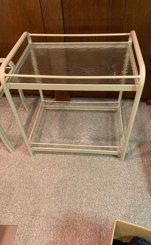 Glass table set (2pieces) for Sale in Orchard Park, NY
