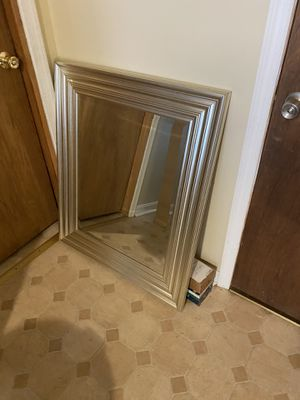 30x36 silver framed mirror for Sale in Gaithersburg, MD
