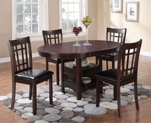 Lavon Transitional Espresso Five-piece Dining Set for Sale in Naples, FL