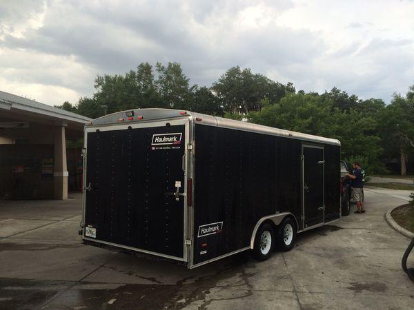 Haulmark enclosed trailer car hauler