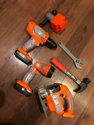Kids black and decker Home Depot tool set toy - 6 pieces for Sale in Buckeye, AZ