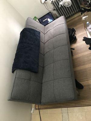 Beautiful Dark Grey Futon w/ Steel Legs for Sale in New York, NY