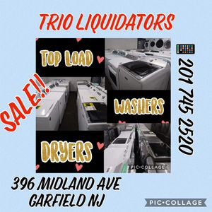 Top load washers and dryers SALE!! for Sale in Garfield, NJ
