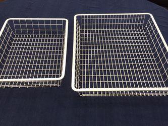 Wire Shelf Baskets - Organized Living for Sale in Santa Clara,  CA