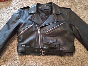 Vintage Black Leather Jacket for Sale in Frisco, TX