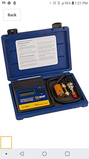Yellow jacket full range vacuum gauge ( digital for Sale in San Jose, CA