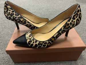COACH Zan May Calf Leopard Hair Heels for Sale in Los Angeles, CA