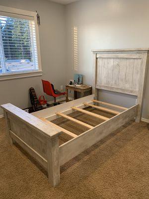 Vintage Handmade Solid Wood Twin Bed for Sale in Auburn, WA