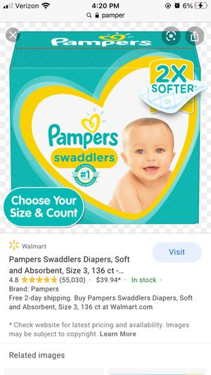 Pampers Diapers Size 1 for Sale in West Haven, CT