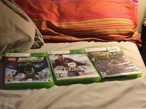 Fifa 14/batman 3/teenage mutant ninja turtles game all for Xbox 360 for Sale in Severn, MD