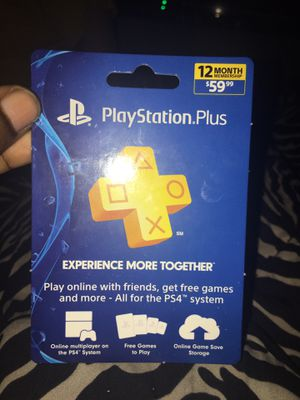 PS4 member ship 12months for Sale in Pittsburgh, PA