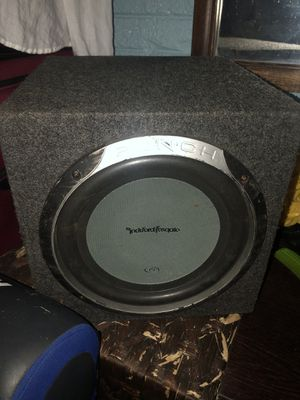 Rockford Punch Sub woofer with amp for Sale in Fairfax, VA