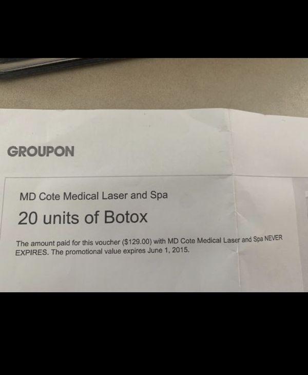 Groupon Botox voucher