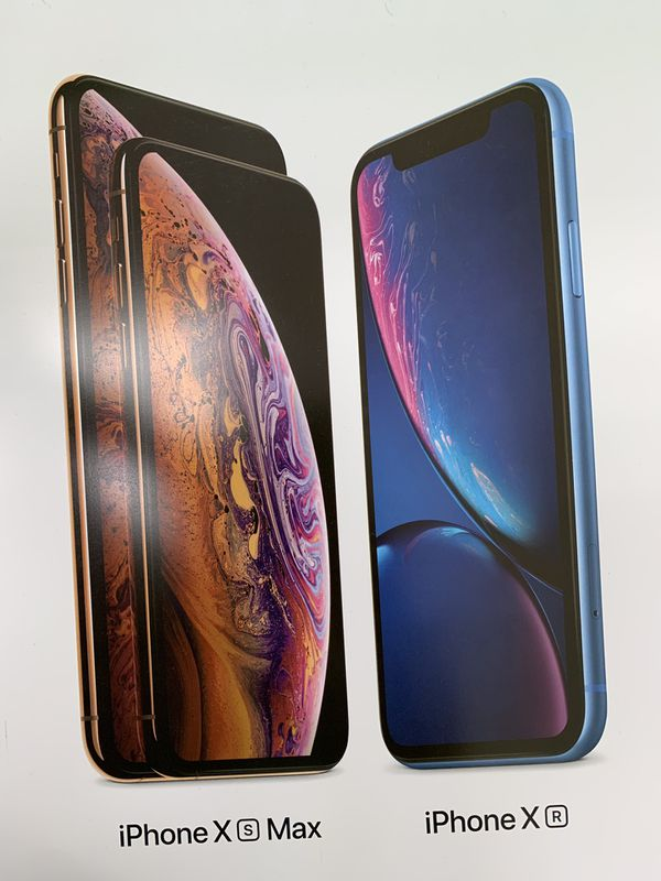 BRAND NEW IPHONE XS AND XR!!!