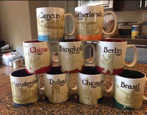 7 Starbucks Coffee Collector Series Mugs for Sale in Kirkland, WA