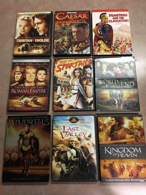 These are the days of the knights and warriors Movies Package five for Sale in Lampasas, TX