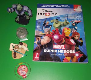 Disney Infinity Marvel Official Game Guide Book (4) Figures for Sale in Nashville, TN