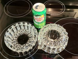 Vintage pair of glass ashtrays for Sale in Simsbury, CT